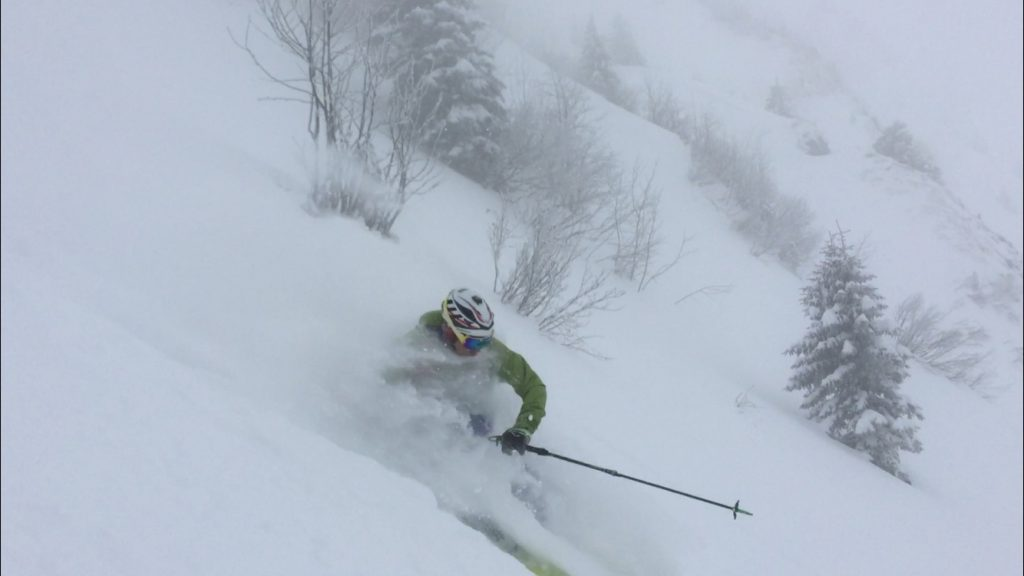 Champagne pow in May